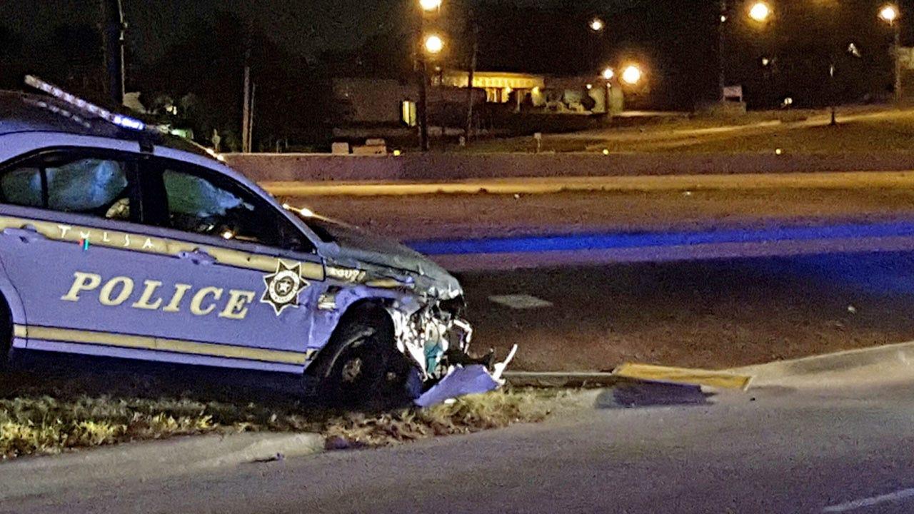 No Injuries After Tulsa Police Patrol Car Rear-Ends Car