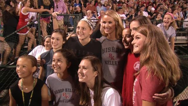 Miss USA Returns Home To Bishop Kelley High School