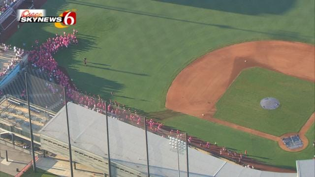 Tulsa's Race For The Cure, As Seen From Osage SkyNews 6 HD
