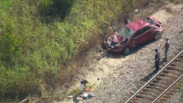 Car Rolls Down Embankment In Avery Drive Crash