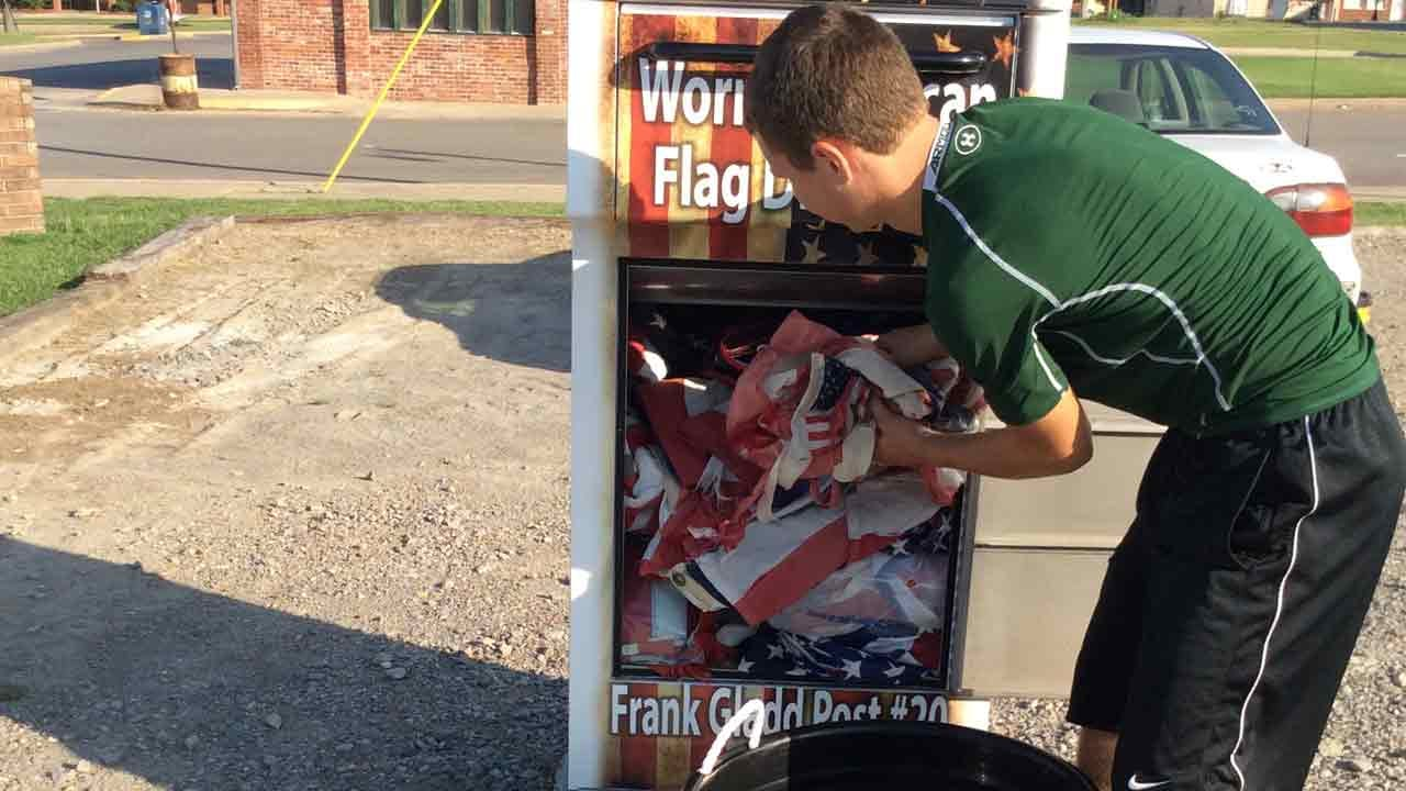 Oklahoma Eagle Scout Project Properly Disposes Of Old Glory