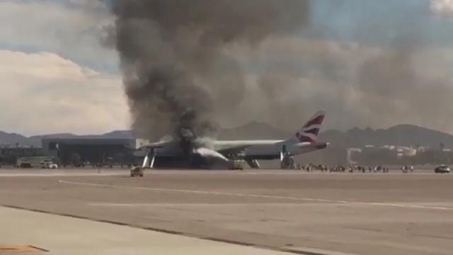 London-Bound Jet Catches Fire On Las Vegas Runway