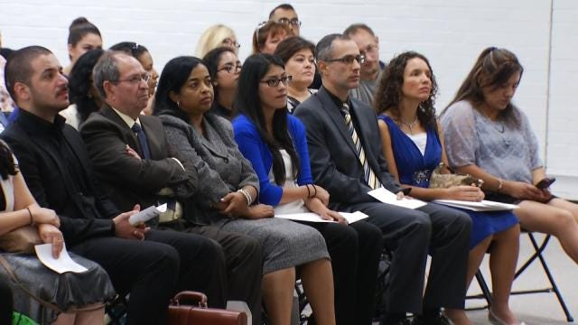 Road To U.S. Citizenship Ends With Tulsa School Ceremony