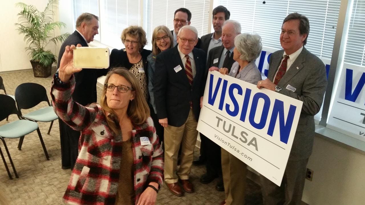 Tulsa Mayor, Former Mayors Tout Tuesday's Vision Tax Vote