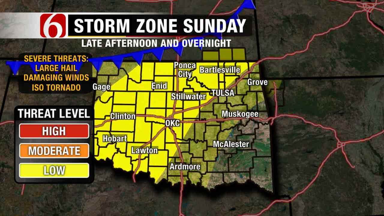 Stage Set For Possible Severe Storms In Green Country