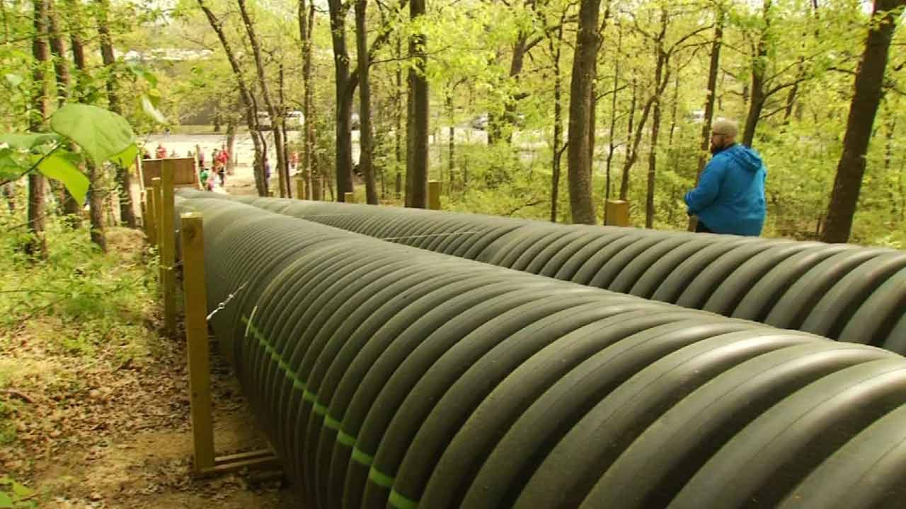 Tulsa Double Pipe Slide May Be World's Largest