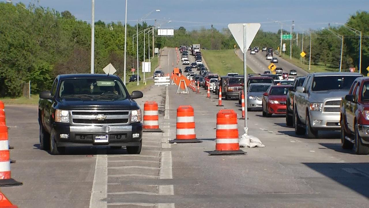 Road Project Causes Traffic Congestion On Broken Arrow Expressway
