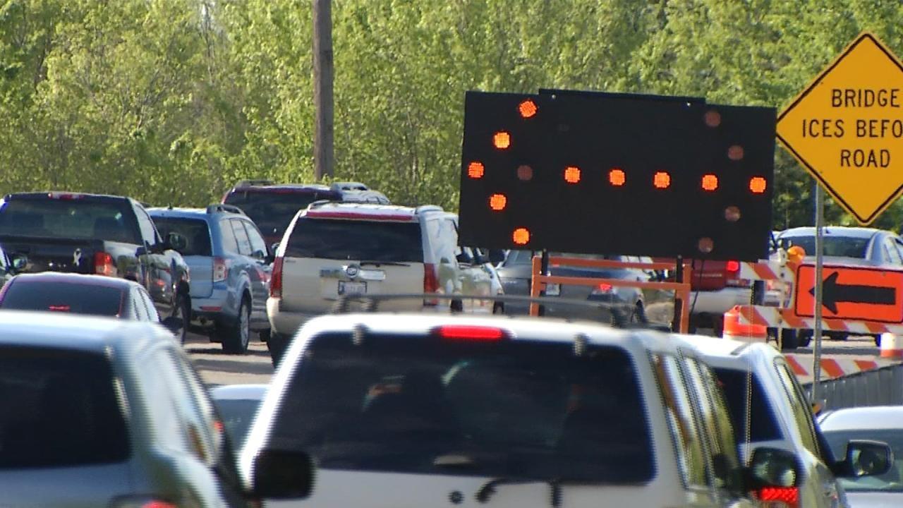 Construction Work Delays Continue On Tulsa's BA Expressway