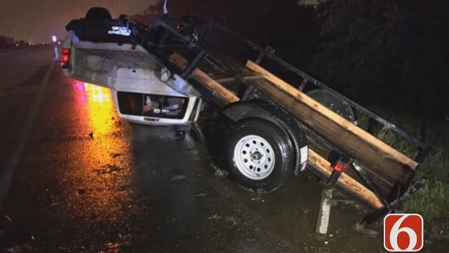 Drivers Blame Hydroplaning For Tulsa-Area Wrecks