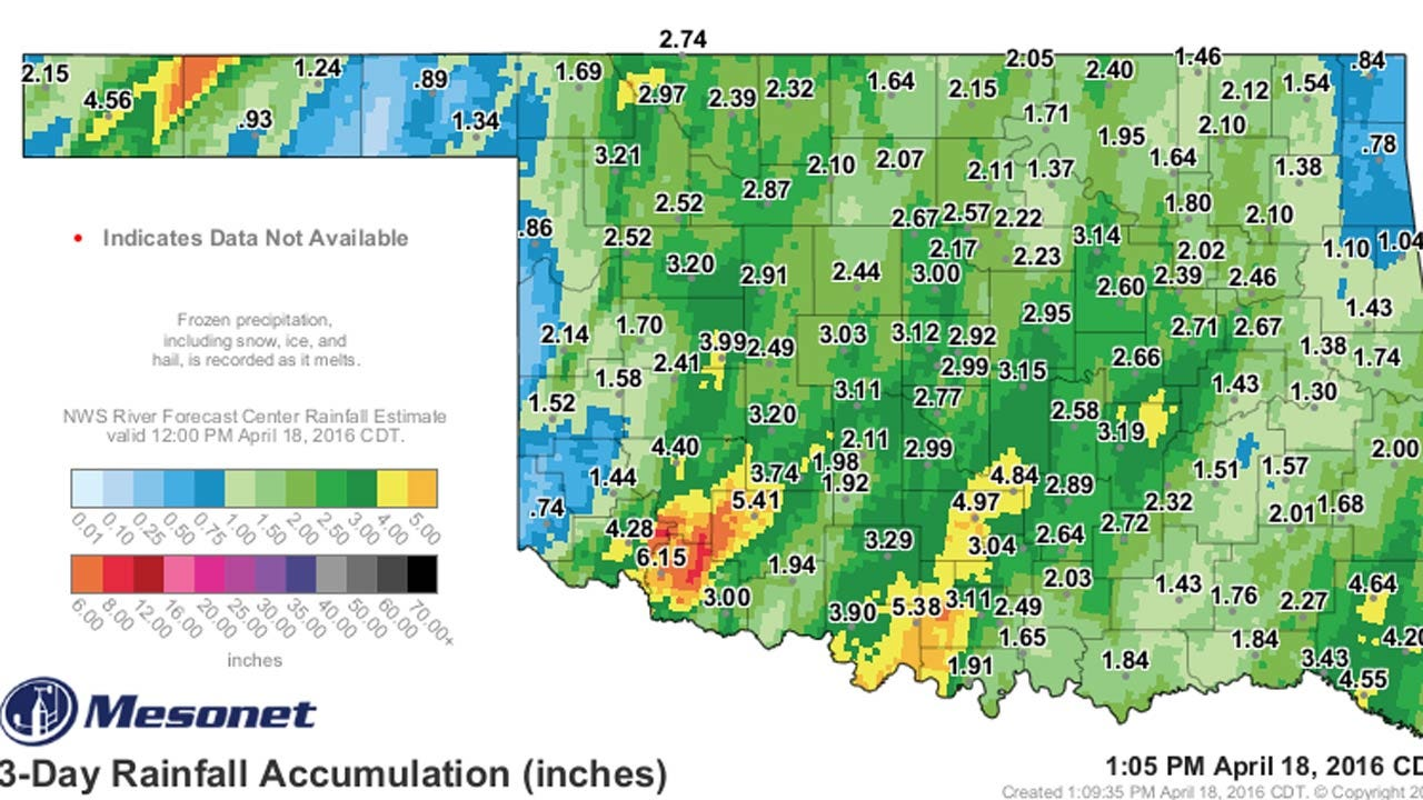 "Meteorologist Mike Grogan: 3"" Of Rain For Parts Of Oklahoma"