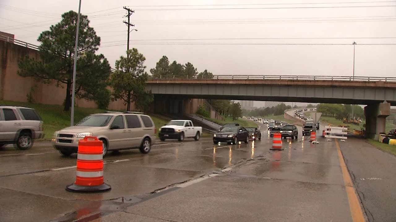New Work Zone Tying Up Traffic On BA Expressway Near Downtown
