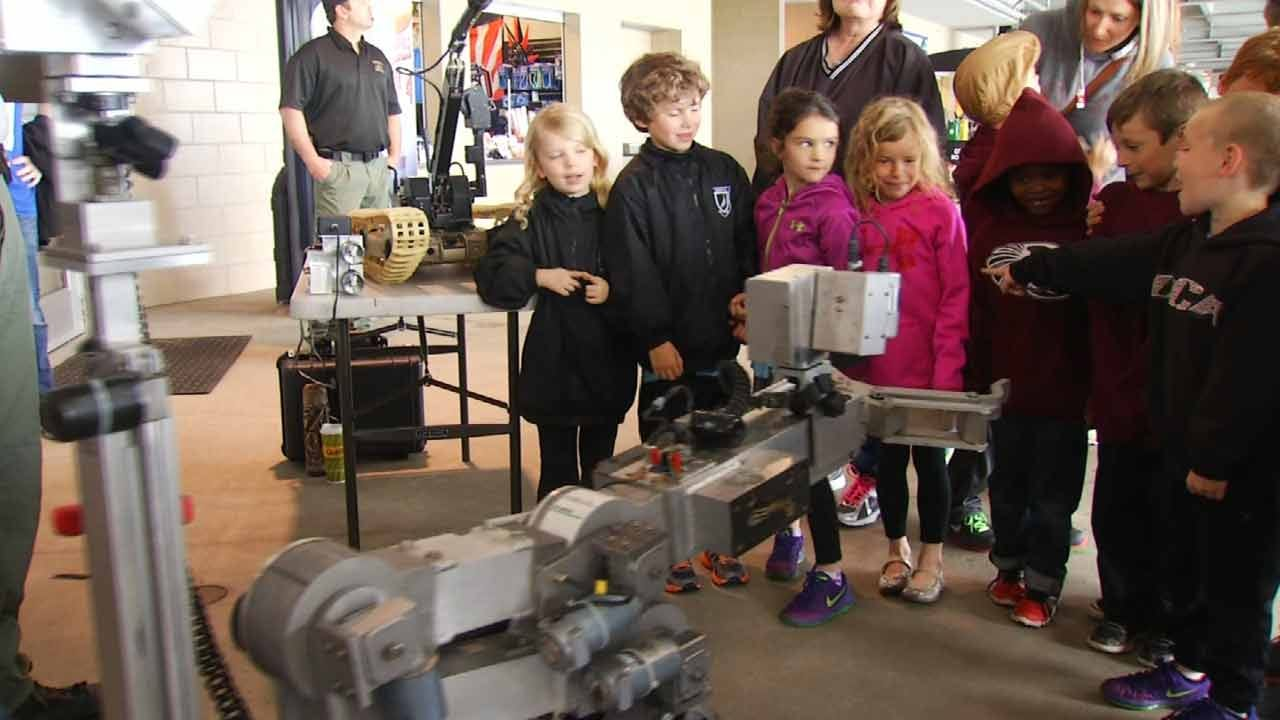 Rain Dampens Activities, Not Enthusiasm, At ONEOK Field's STEM Day