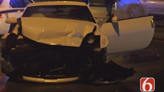 Stolen Dodge Slams Into Tulsa Driver, Police Say