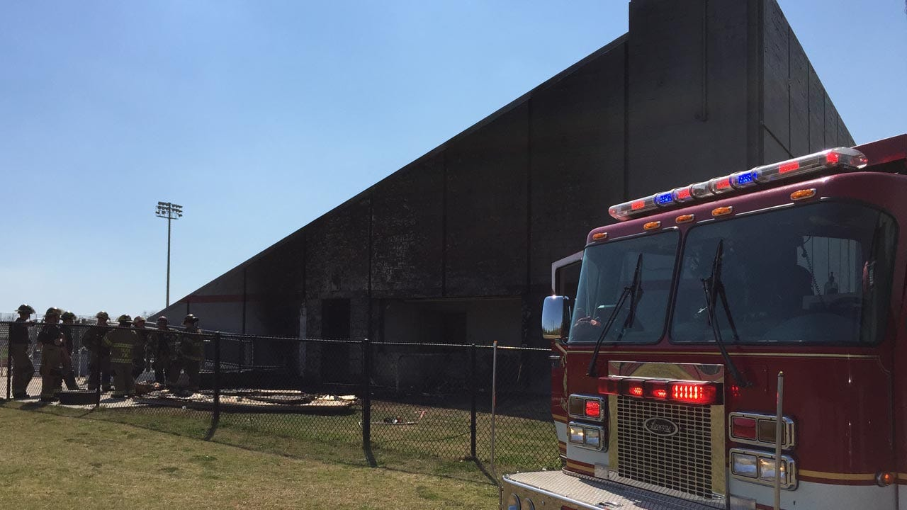 Firefighters Put Out Small Fire At McLain Football Stadium