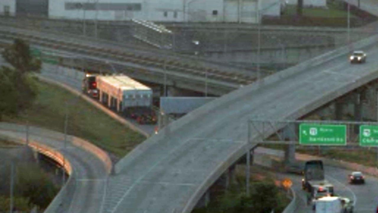 Oversized Load Blocks Downtown Tulsa Highway Ramp
