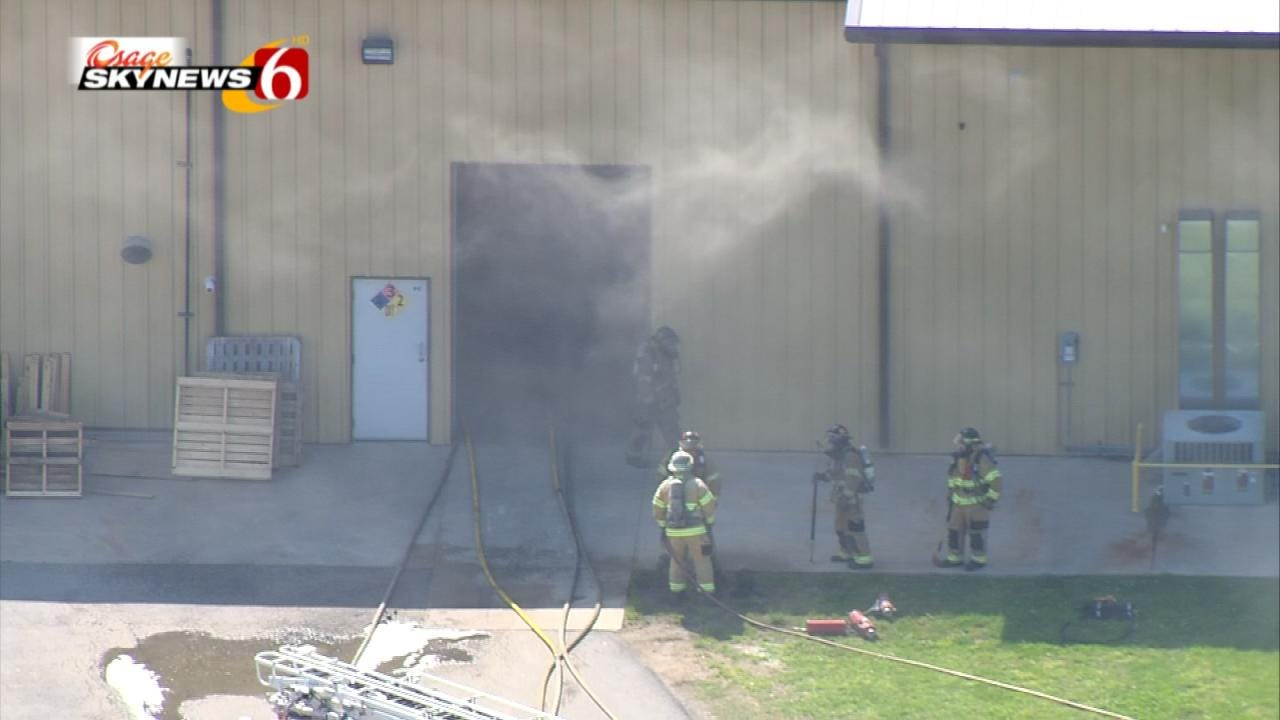 Firefighter Released From Hospital Following Tulsa Industrial Fire