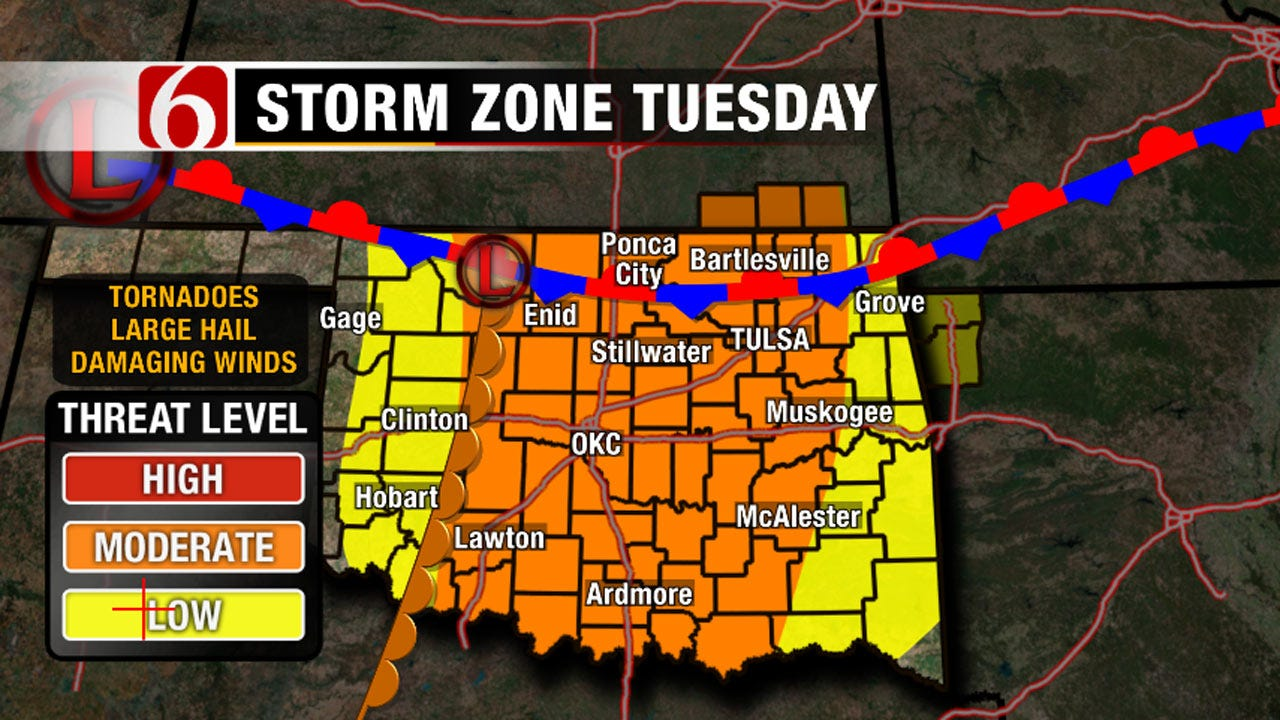 Three Storm Systems Bringing Tornado Threat To Oklahoma