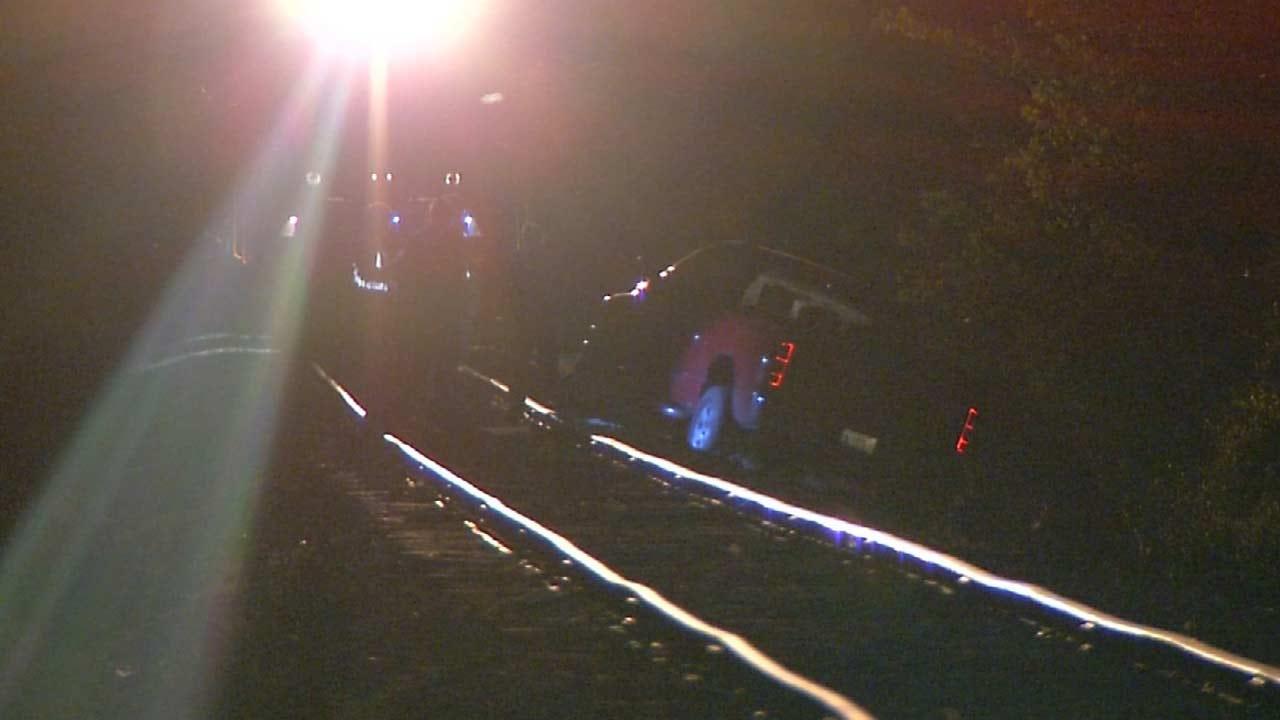 Driver Leaves Truck On Tracks Near Tulsa Mohawk Park
