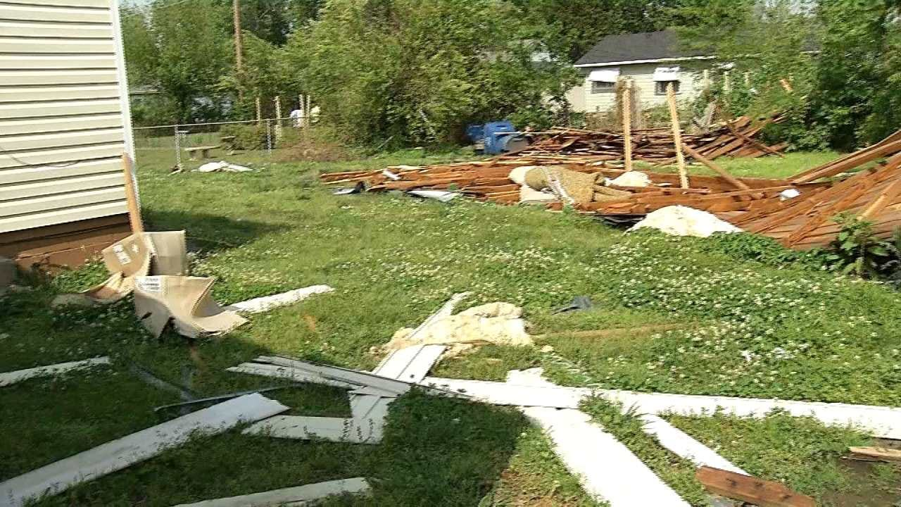 North Tulsa Residents Prepare For Severe Weather While Repairing Existing Damage