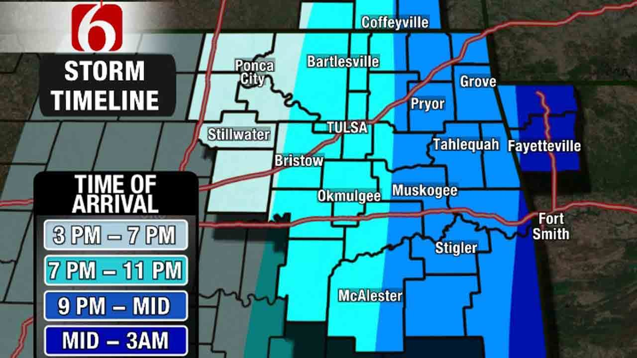 Tornado Watch Issued For Northeastern Oklahoma Counties