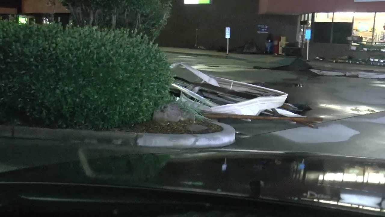 Bixby Shopping Center, Downtown Area Left With Storm Damage