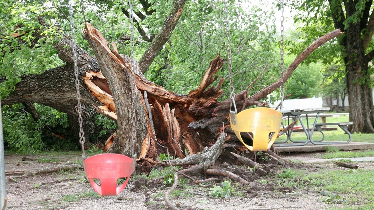 High Winds Cause Damage In Cleveland