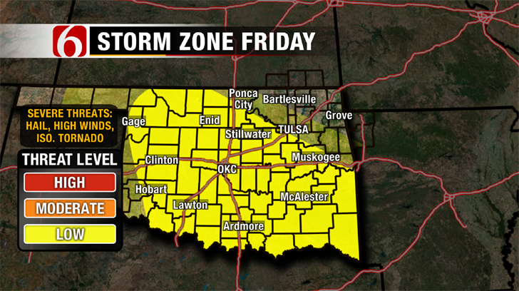 Dick Faurot's Weather Blog: Showers, Storms Friday; Some Severe