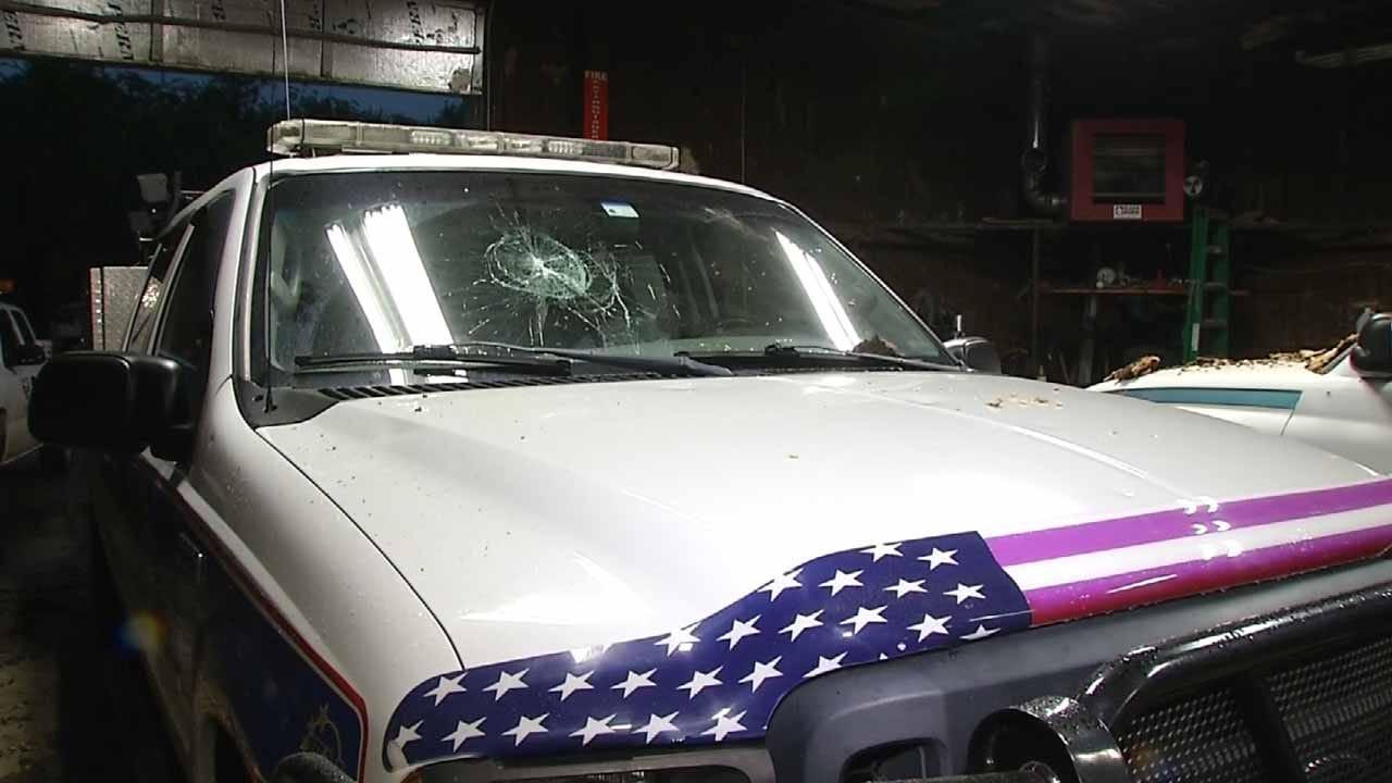 Baseball-Sized Hail Damages Wagoner County Vehicles