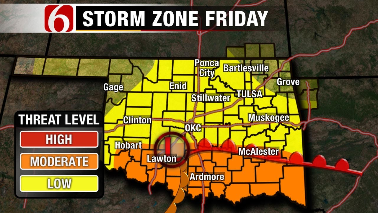 Severe Storms Move Into Green Country