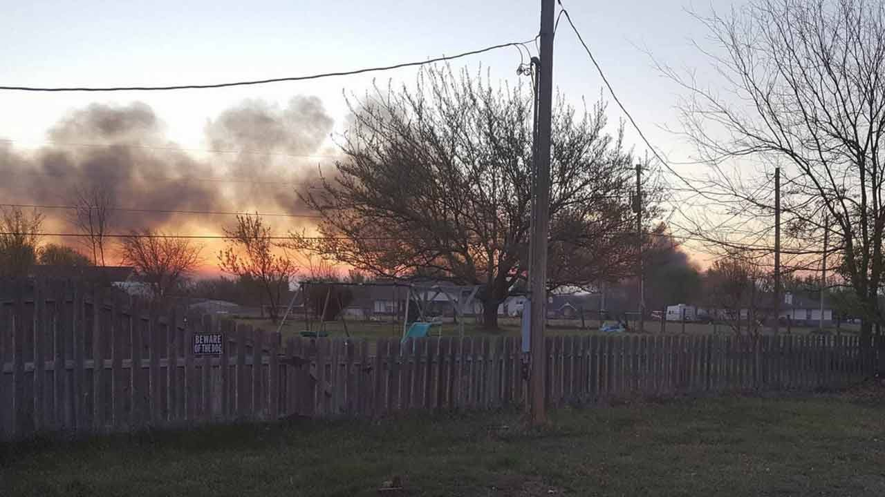 Deputies: Distraught Man Sets House On Fire In Rogers County