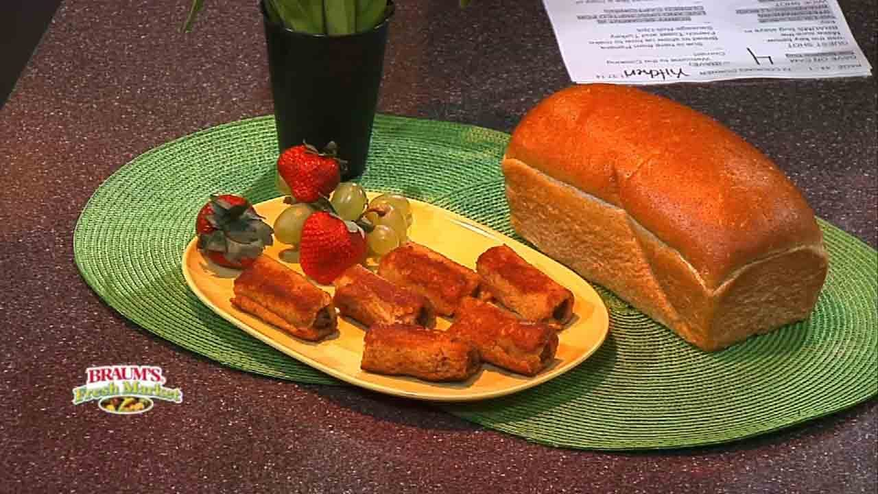 French Toast And Turkey Sausage Roll-ups