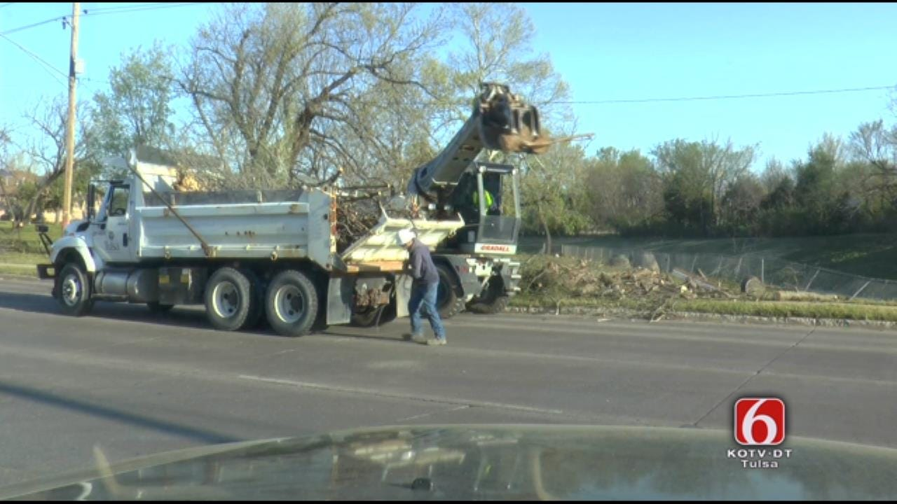 Crews Start Picking Up Tornado Debris From North Tulsa
