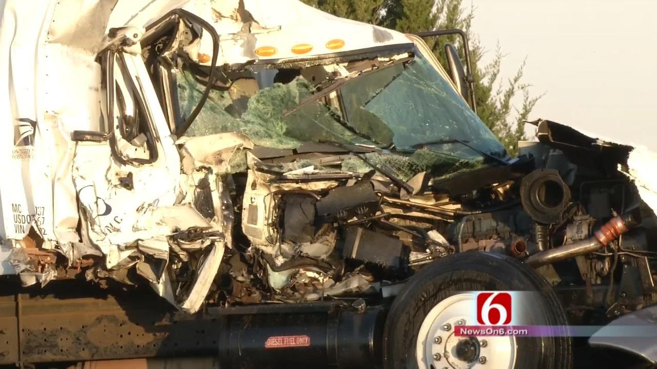 Two Trucks Collide On Highway 66 Near Sequoyah