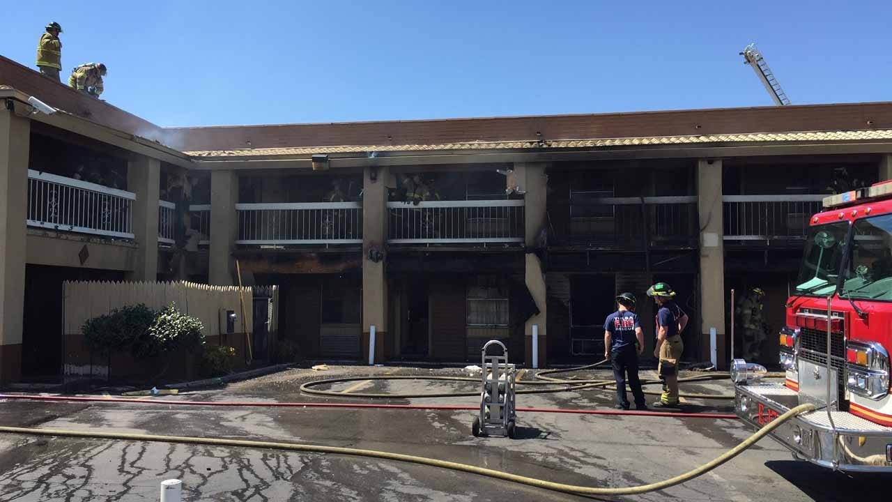 Woman Injured In Fire At Tulsa Motel