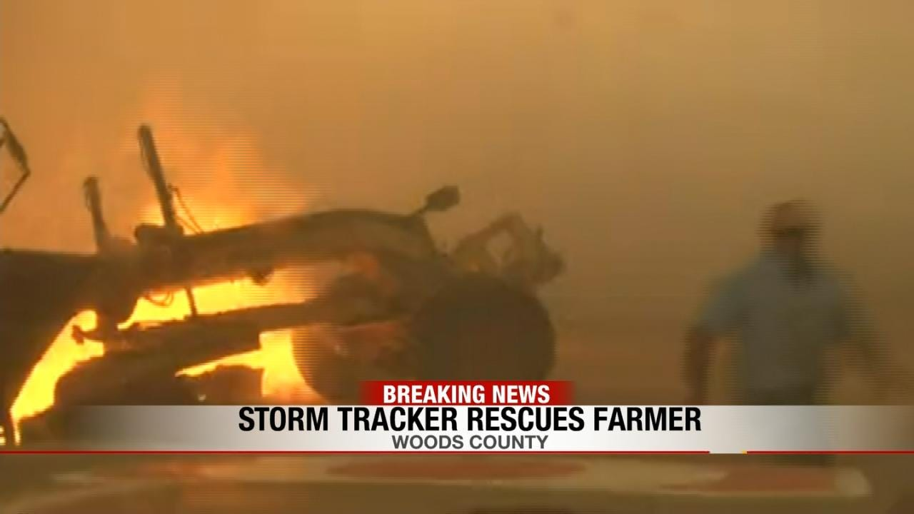 News On 6 Storm Trackers Rescue Man In Wildfire