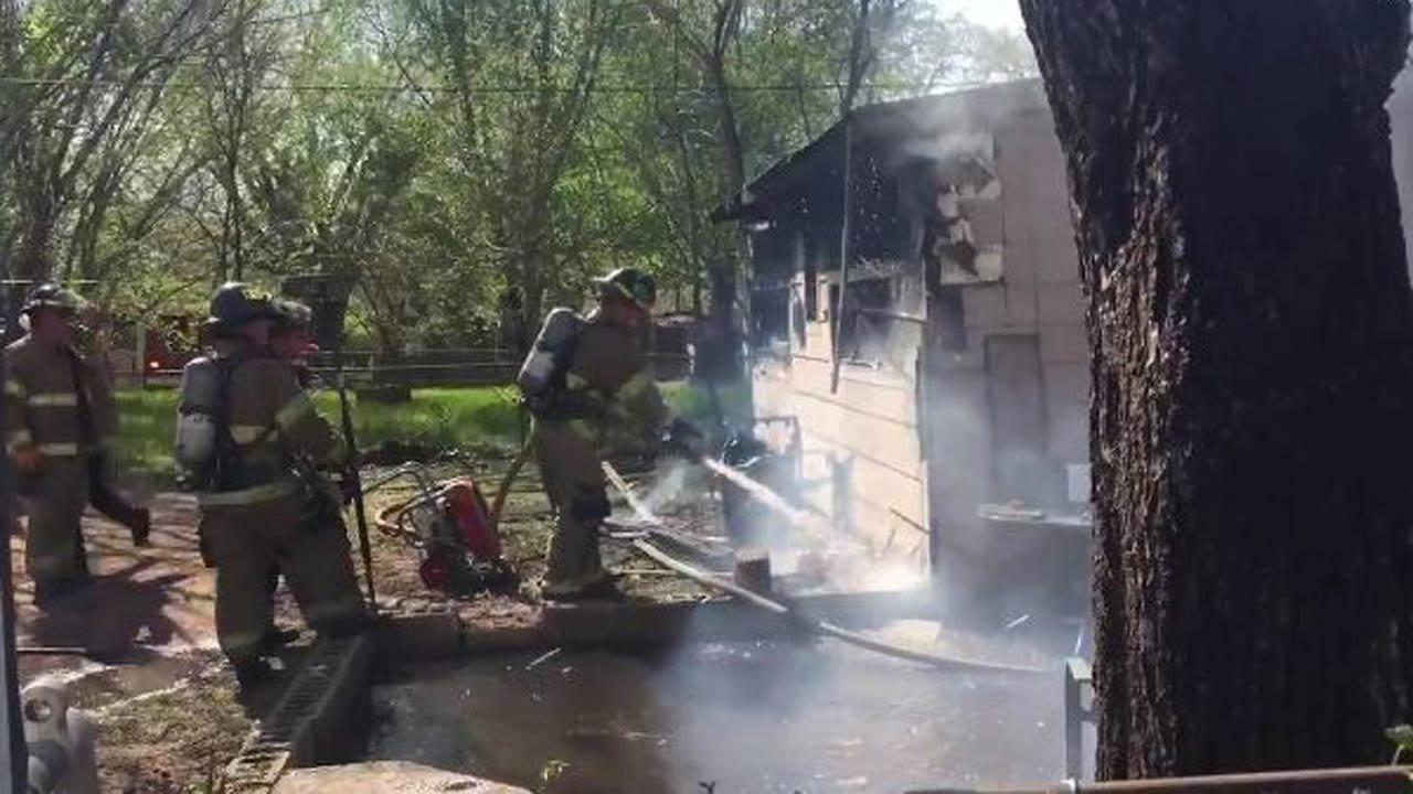 Resident Arrested After Fire Damages Tulsa Home
