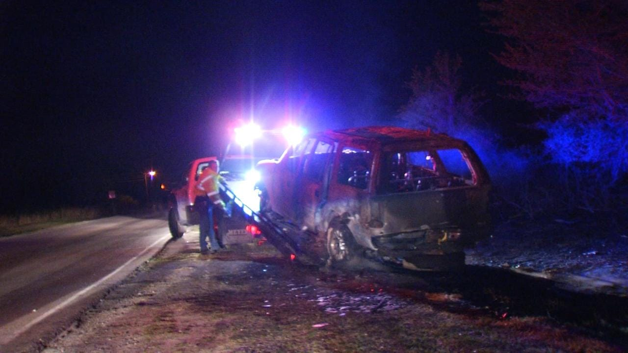 Abandoned SUV Parked On Tulsa Street Found On Fire