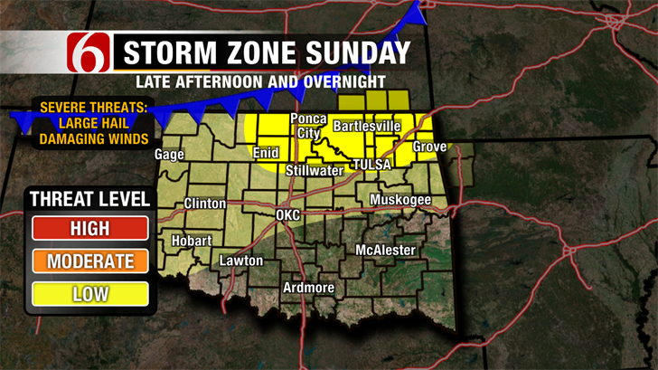 Air Quality Issues Today, Chance of Storms Late Sunday.