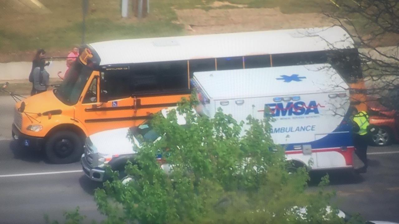 Jenks School Bus In Three-Vehicle Collision