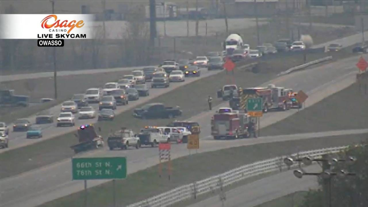 Wreck Closes Southbound 169 In Owasso