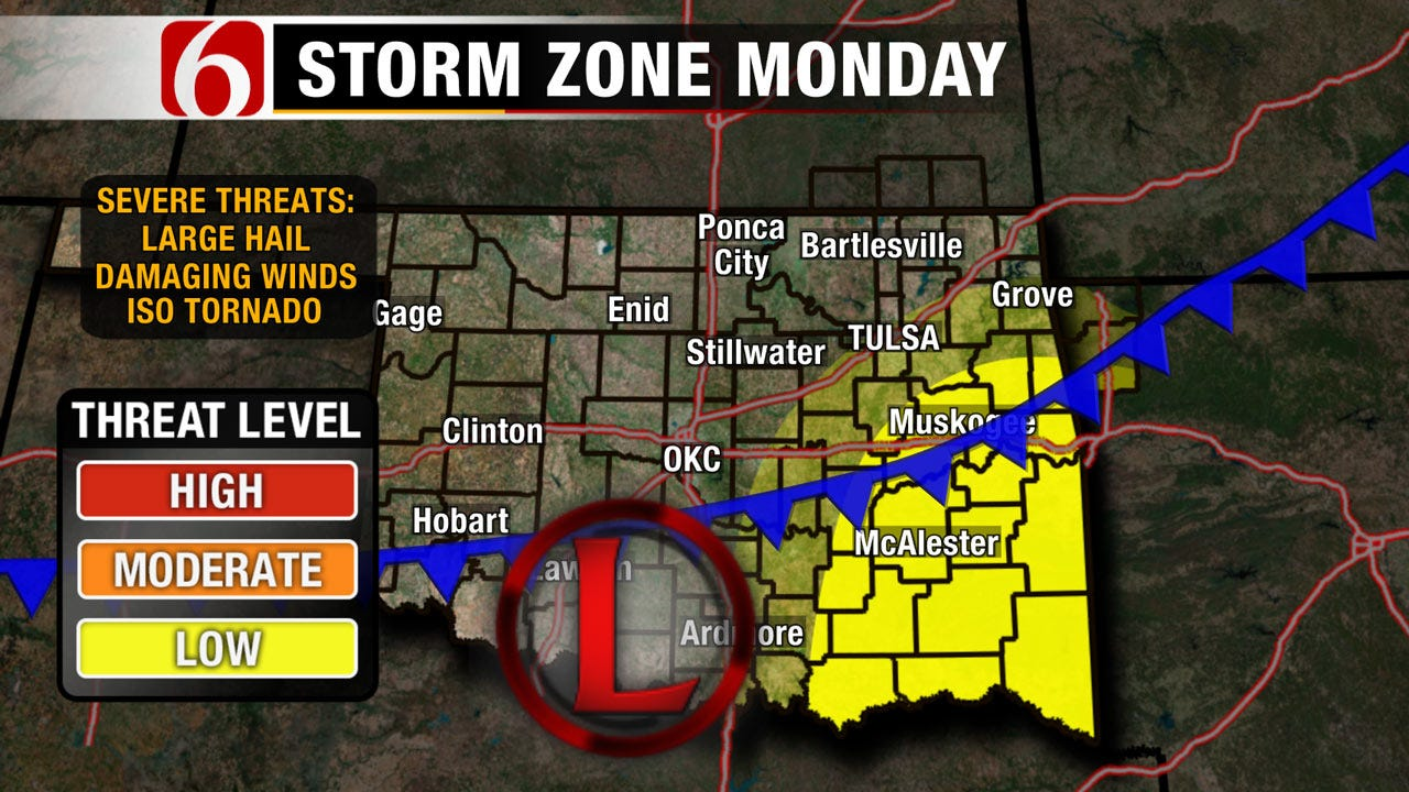 Rain With Chance Of Severe Weather This Weekend Into Monday