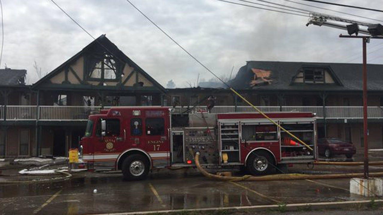 Tulsa Motel Damaged By Fire