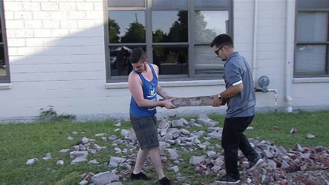More Than 200 People Take Home Bricks From BA's Old High School