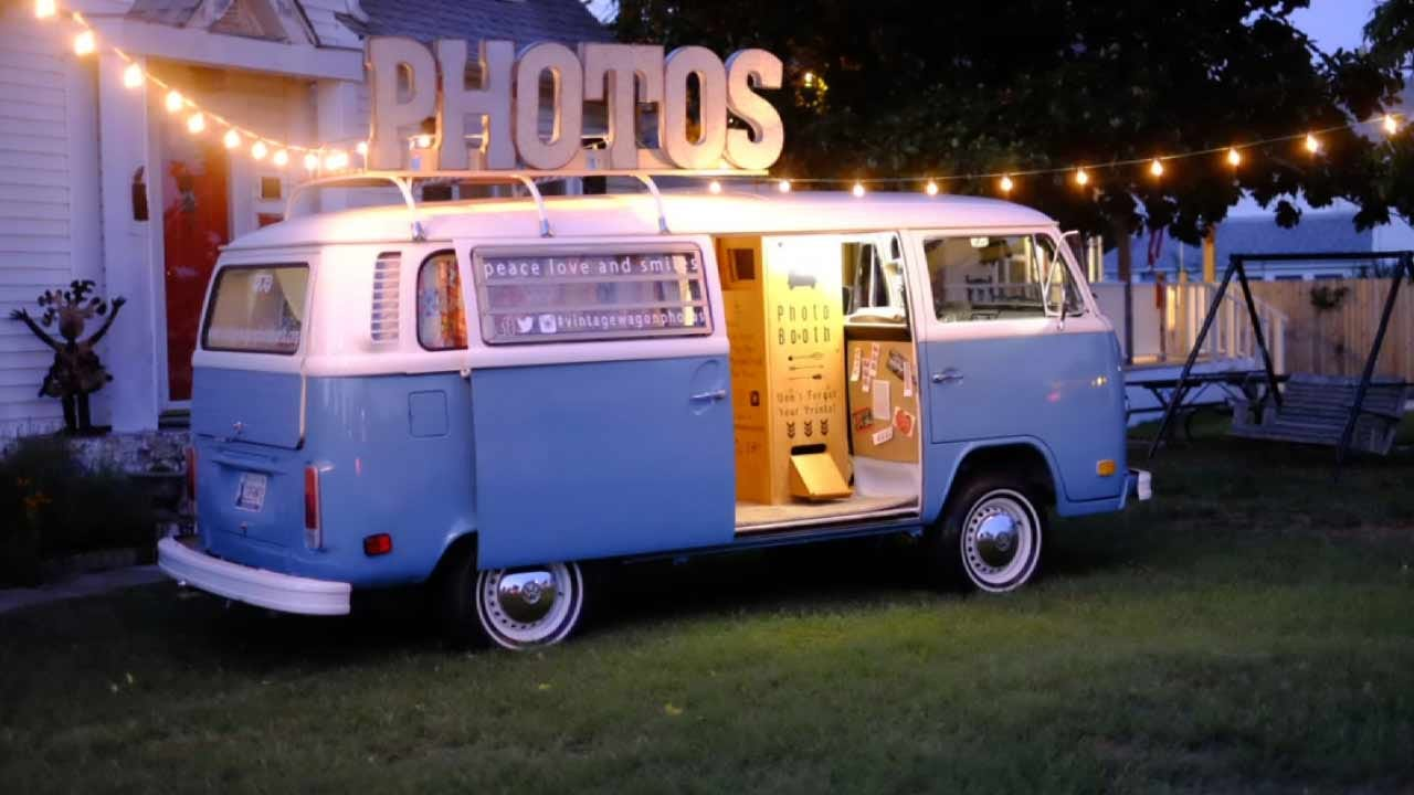 Tulsa Couple Converts VW Bus Into Mobile Photo Booth