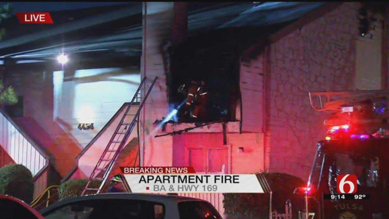 Tulsa Firefighters Battle Apartment Fire