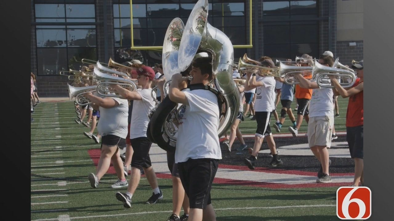 Close Up Look At The Pride Of Owasso Marching Band