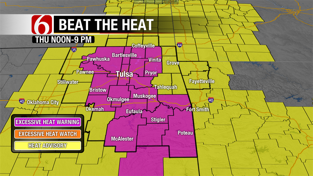 Heat Warning Extended Into Thursday, Relief Arrives Later Friday.