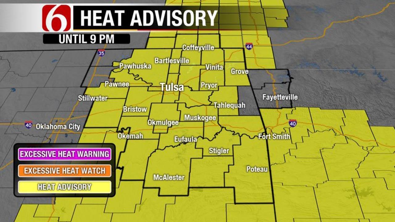 Ozone Alert, Heat Advisory For Eastern Oklahoma