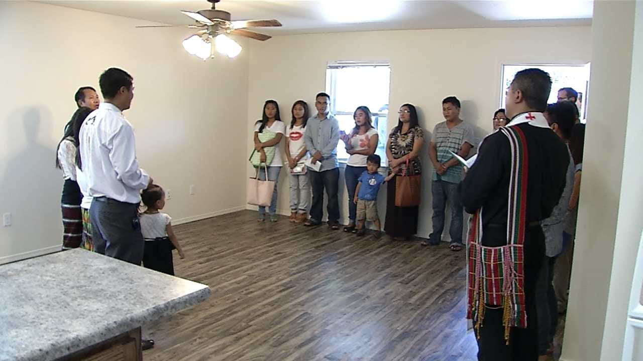 Refuge Family Given Keys To Their Tulsa Habitat For Humanity Home