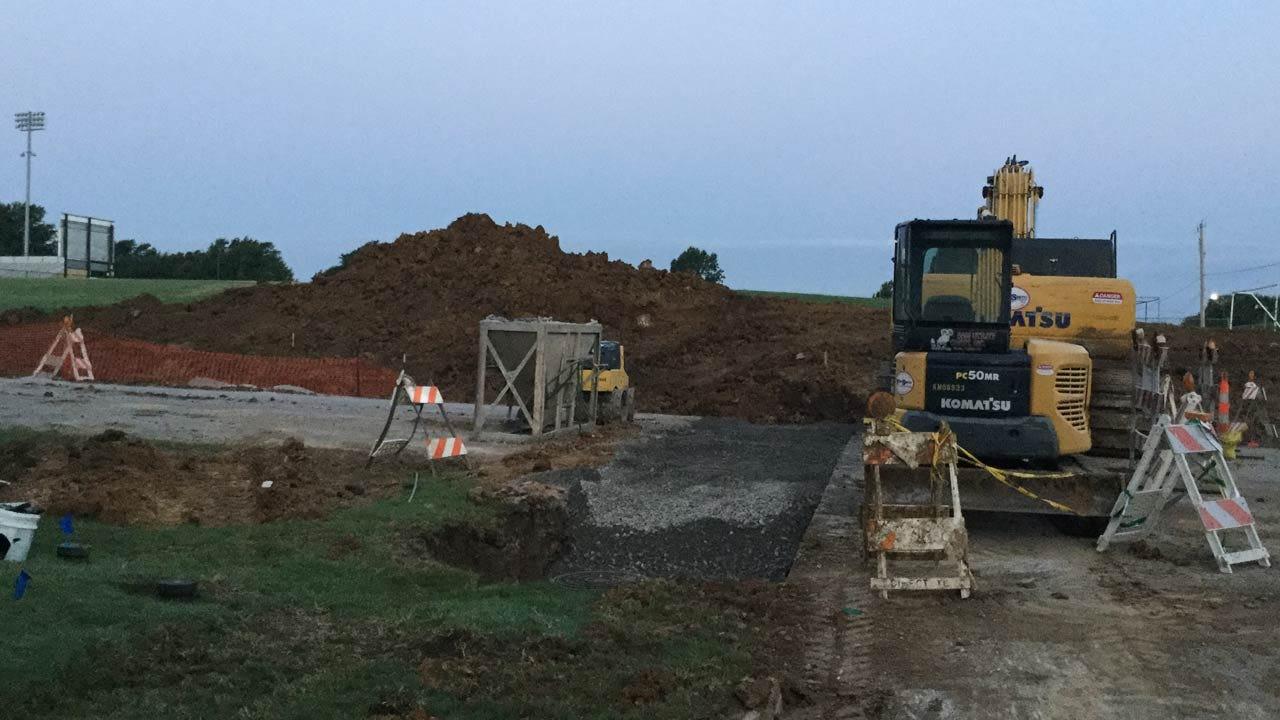 Sewer Line Project Closes Street Near Tulsa High School